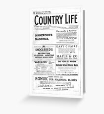 Country Life Sat 28th Oct 1916 bw Greeting Card