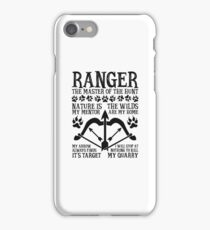 RANGER, The Master of the Hunt - Dungeons & Dragons (Black Text) iPhone Case/Skin