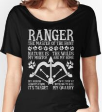 RANGER, The Master of the Hunt - Dungeons & Dragons (White Text) Women's Relaxed Fit T-Shirt