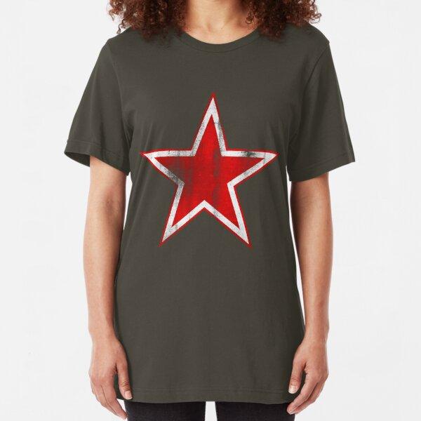 Vintage Soviet Russian Retro Red Star T-Shirts Slim Fit T-Shirt