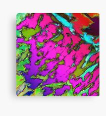 Shattering pink tigers Canvas Print