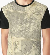 Vintage Maps (Fawn) Graphic T-Shirt