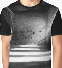 lost places, Old factory hall, black and white Graphic T-Shirt