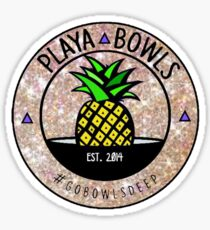 Glitter Playa Bowls Logo Sticker