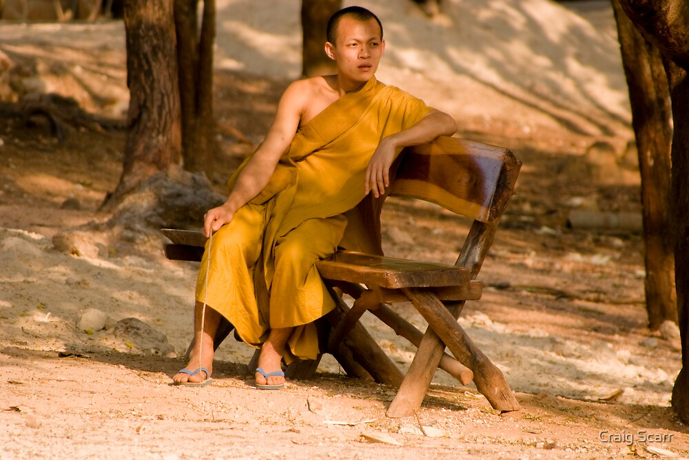 Tiger Temple Monk, Thailand by Craig Scarr
