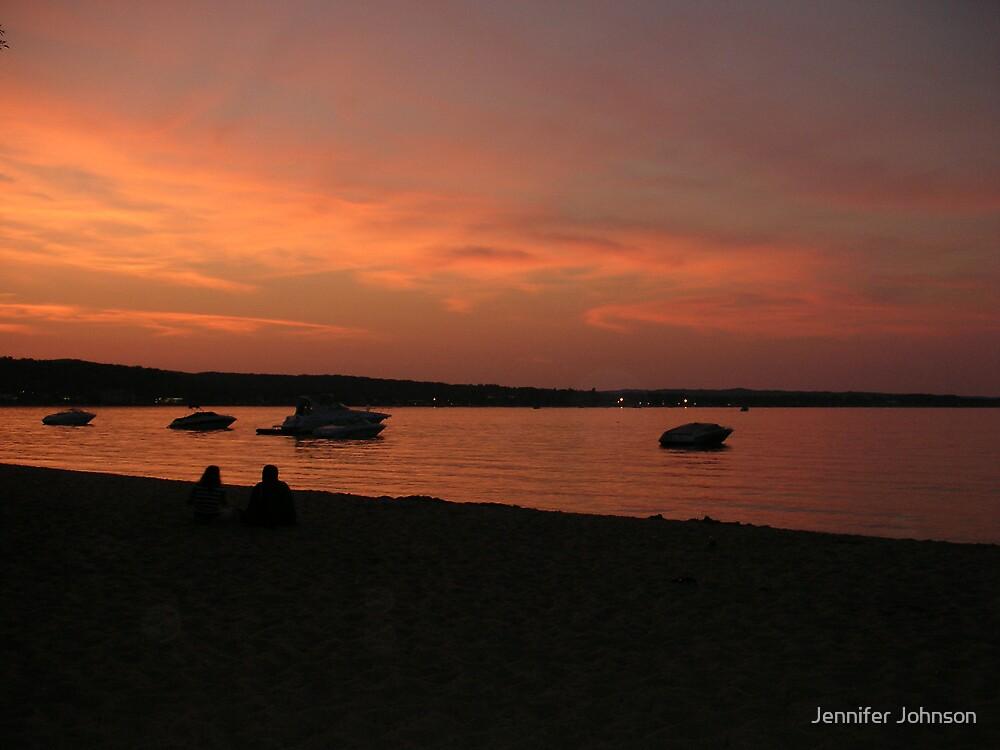 Sunset Of Lake Michigan by Jennifer Johnson