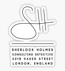 Sherlock Holmes Signature Sticker