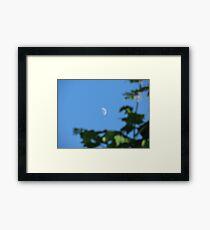 Daytime Moon Framed Print