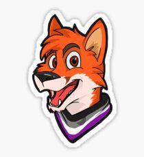 Asexual Pride Bandanna Fox Sticker