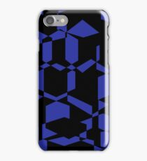 black and blue collage of shapes iPhone Case/Skin