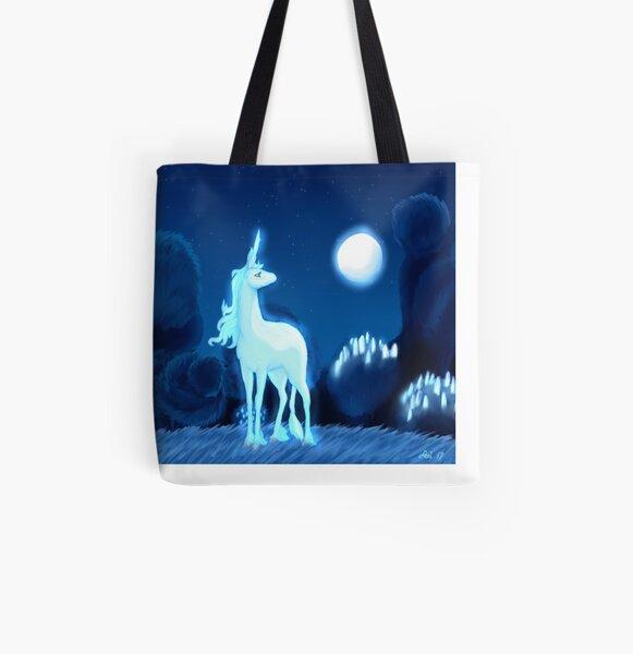 Lune bleue Tote bag doublé