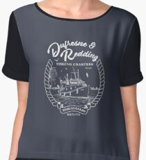 Dufresne and Redding Hope Fishing Charters Variant Women's Chiffon Top