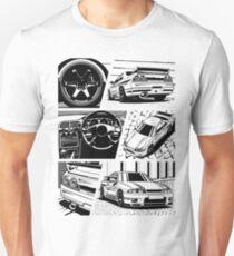 Skyline R33 GTR. Details (transparent background) Unisex T-Shirt
