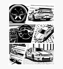 Skyline R33 GTR. Details (transparent background) Photographic Print