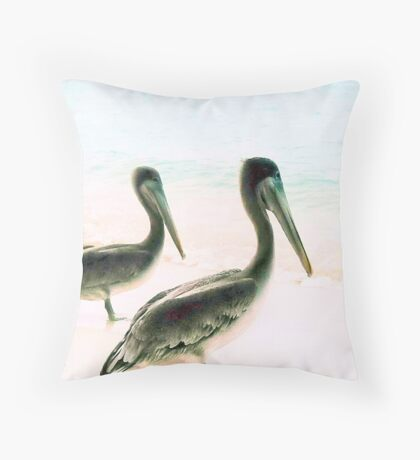 Birds in paradise Throw Pillow