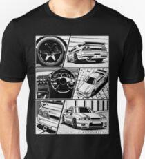 Skyline R33 GTR. Details (white background) Unisex T-Shirt