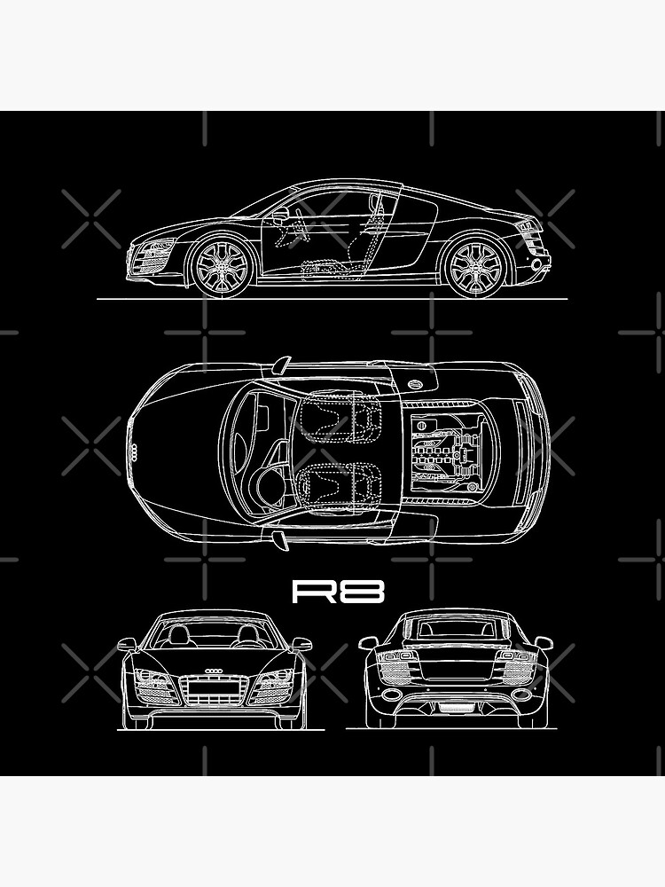 The R8 V10 Blueprint by rogue-design