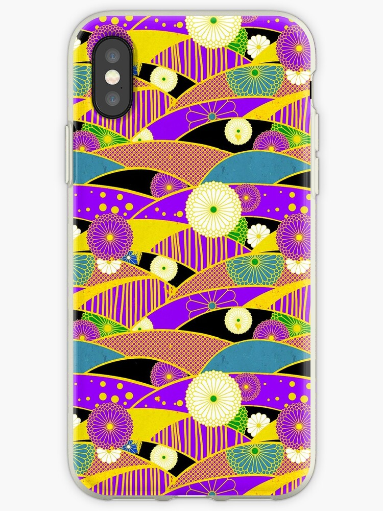 Chiyogami Lavender & Saffron [iPhone / iPod Case & Print] by Didi Bingham