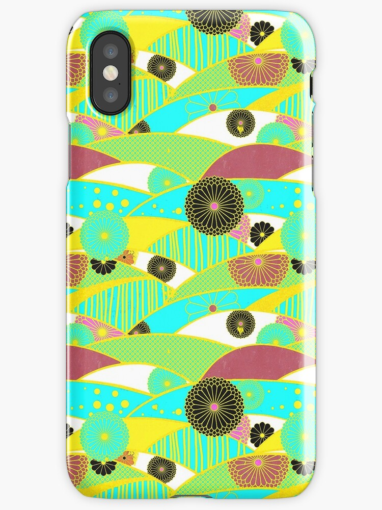 Chiyogami Turquoise & Dusty Rose [iPhone / iPod Case and Print] by Didi Bingham