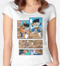 Dragon Ball Z - Goku Versus Vegeta Manga Women's Fitted Scoop T-Shirt