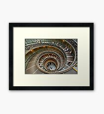 The staircase of the Vatican Museums Framed Print