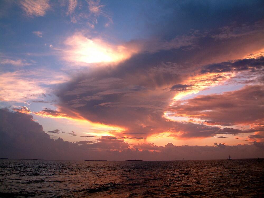 Stormy Sunset - Key West by Cayobo