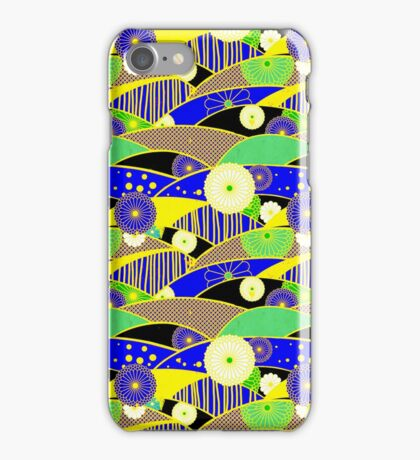 Chiyogami Lapis & Lemon [iPhone / iPod Case and Print] iPhone Case/Skin