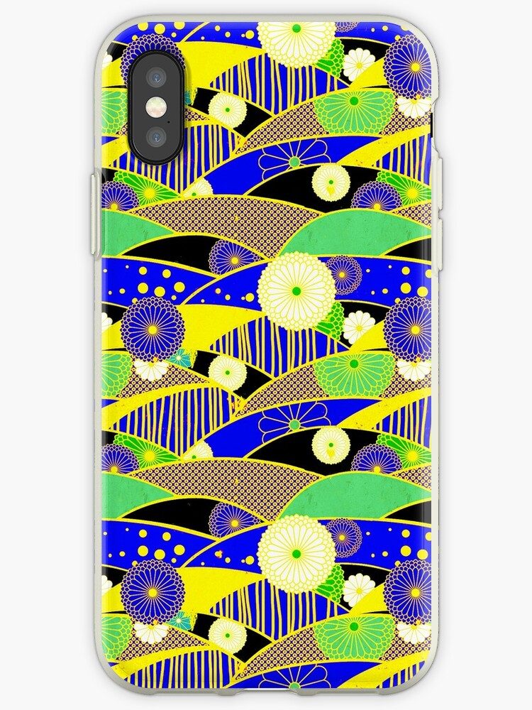 Chiyogami Lapis & Lemon [iPhone / iPod Case and Print] by Didi Bingham