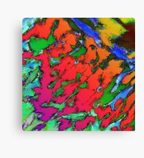 Shattering red tigers Canvas Print