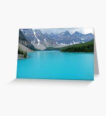 Morraine lake Greeting Card
