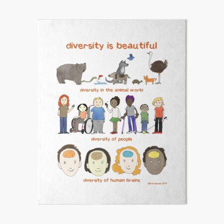 diversity is beautiful Art Board Print