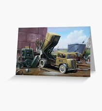 Fordson cement lorry. Greeting Card