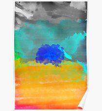 Fear is a mirage canvas watercolor  Poster