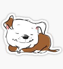Sleeping Bulldog Puppy--Cute Chubby Bully Dog Sticker