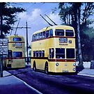 Bournemouth trolley-bus on Tuckton bridge. by Mike Jeffries