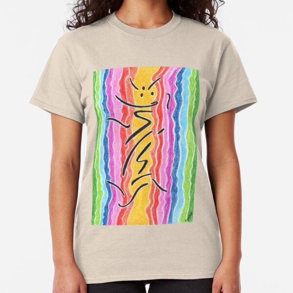 2211 - Black Signs before Rainbow Stream Classic T-Shirt