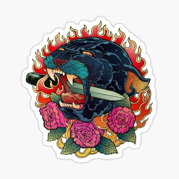 Burning Roses  Sticker