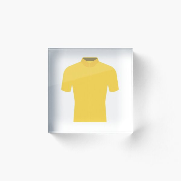 Tour de France YELLOW Jersey Acrylic Block