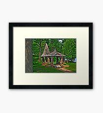 """Gazebo on Heart Island """"Boldt Castle"""" Framed Print"""