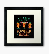 Plant Powered Muscle Framed Print
