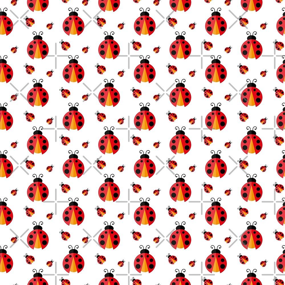 Ladybug. Vector pattern by Afone4ka