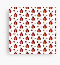 Ladybug. Vector pattern Canvas Print