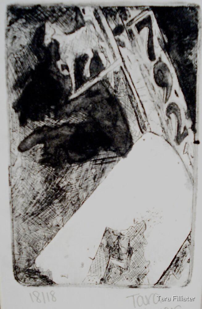 Rusty Mailbox Silver Horse by Tara Filliater