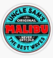 SURFING MALIBU CALIFORNIA SURF SURFER SURFBOARD WAX UNCLE SAM Sticker