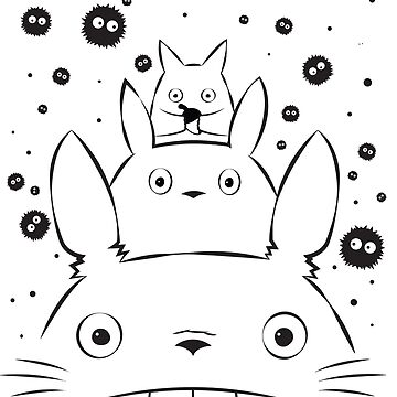 Totoro and Friends Simple by animepie