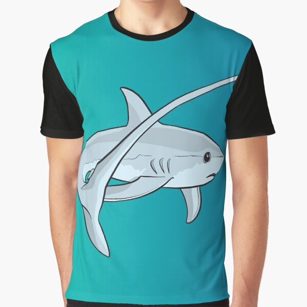 Adorable Cute Thresher Shark  Graphic T-Shirt