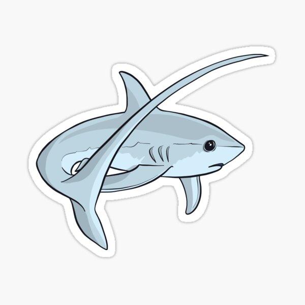 Adorable Cute Thresher Shark  Sticker