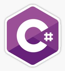 C# Sharp logo Sticker