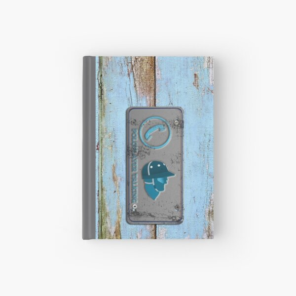 polo player talking_blue Hardcover Journal