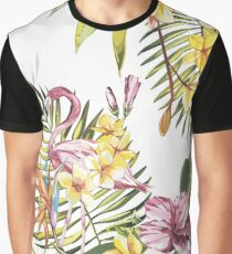 Coconut and Flamingo Graphic T-Shirt
